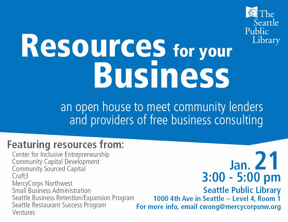 Business Open House Flyer Template Best Of Seattle Small Business Open House ⋆ Mercy Corps northwest