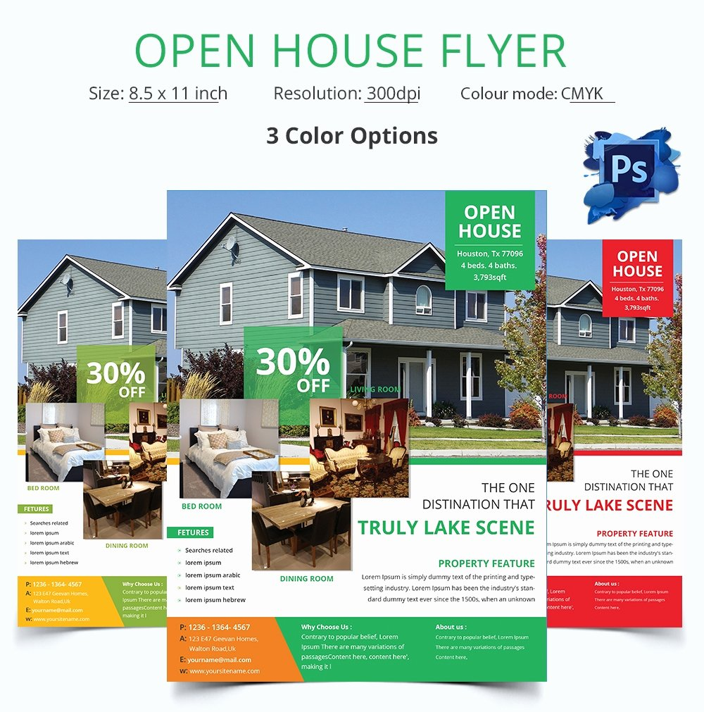 Business Open House Flyer Template Elegant Open House Flyer Template – 30 Free Psd format Download