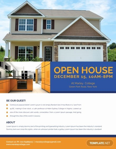 Business Open House Flyer Template Elegant Printable Open House Flyer Template In Adobe Shop