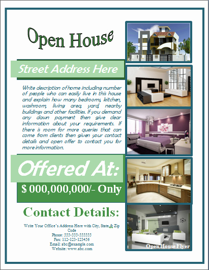 Business Open House Flyer Template Elegant Sample Open House Flyer Template