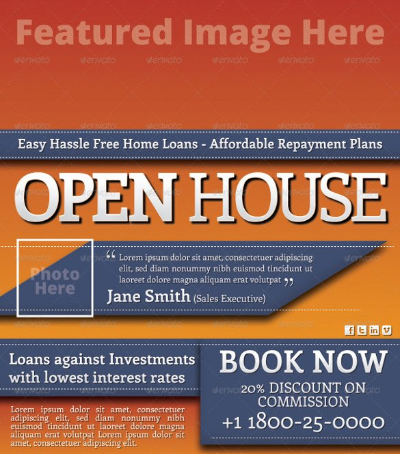 Business Open House Flyer Template Fresh Open House Flyer Templates – 39 Free Psd format Download