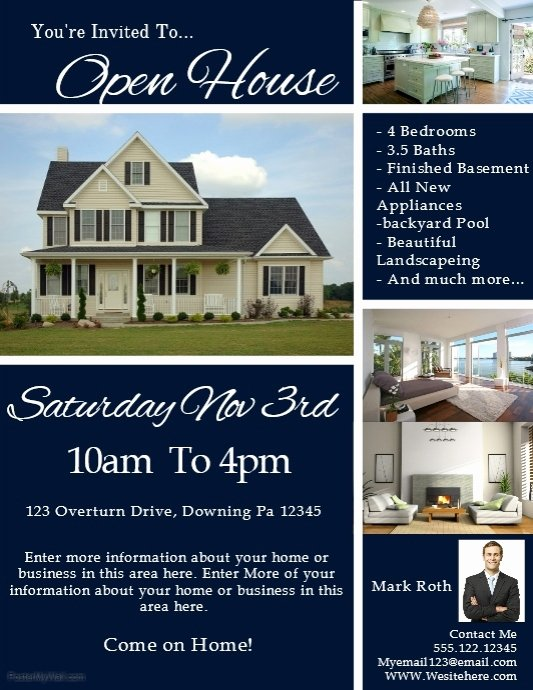 Business Open House Flyer Template Fresh Real Estate Template