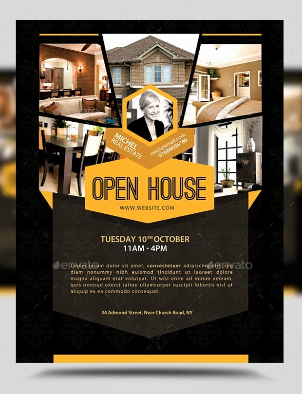 Business Open House Flyer Template New 21 Open House Flyer Designs Psd Download