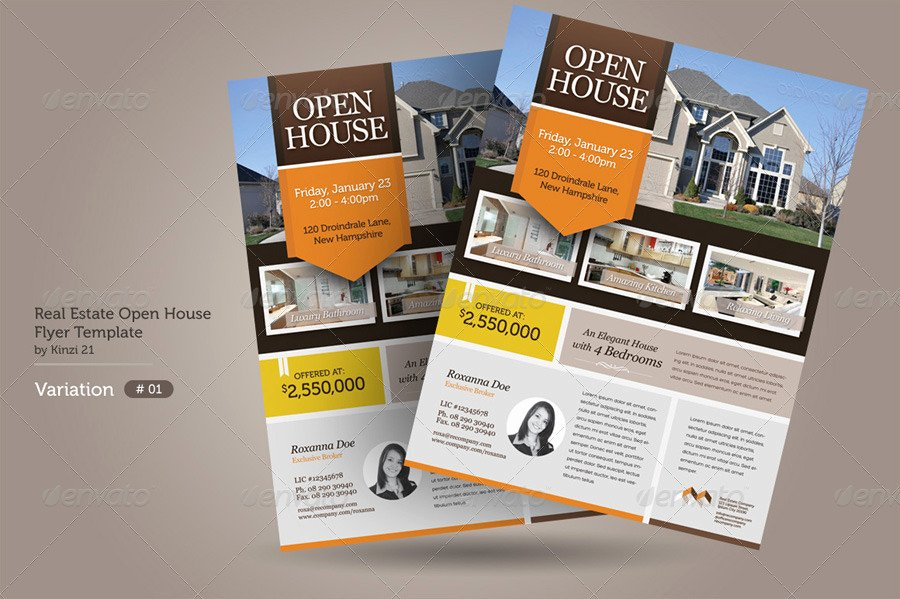 Business Open House Flyer Template New Real Estate Open House Flyers by Kinzi21
