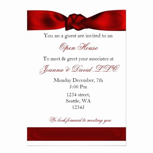 Business Open House Invitation Wording Beautiful Red Elegant Corporate Party Invitation