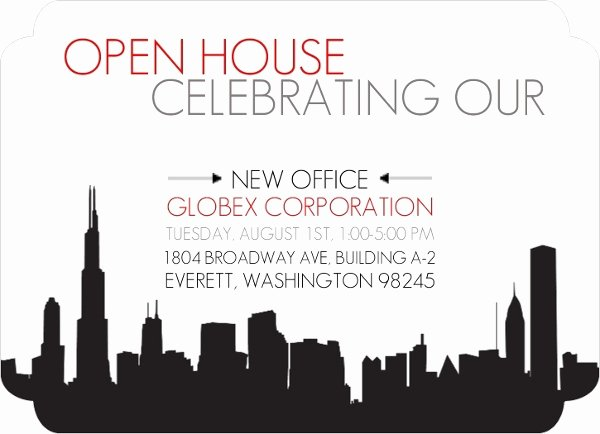 Business Open House Invitation Wording Lovely New Fice Corporate Open House Invitation