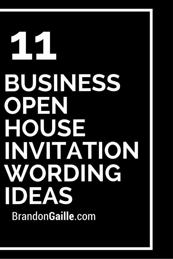 Business Open House Invitation Wording Luxury 11 Business Open House Invitation Wording Ideas