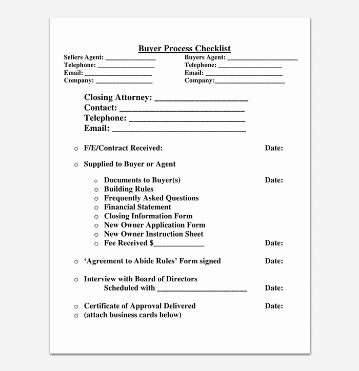 Business Process Template Word Elegant Process Checklist Template 20 Editable Checklists