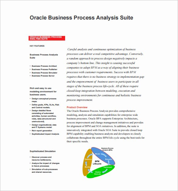 Business Process Template Word Inspirational 16 Analysis Templates Doc Pdf Excel