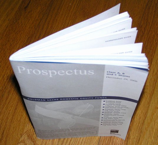 Business Prospectus Example Inspirational Prospectus Finance