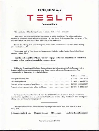 Business Prospectus Example Inspirational Tesla Ipo Prospectus