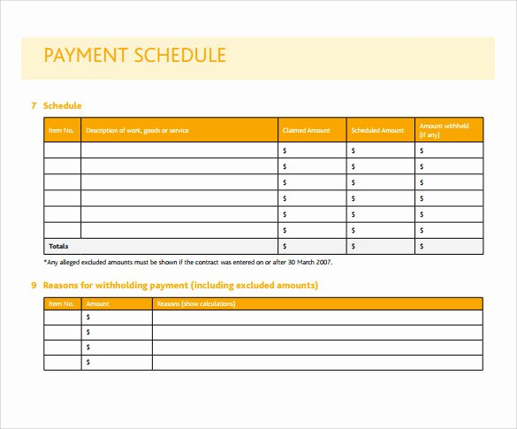 Business source Label Templates Unique Payment Schedule Template – 10 Free Samples Examples