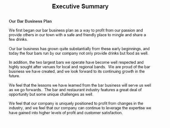 Business Summary Example Best Of 13 Executive Summary Templates Excel Pdf formats