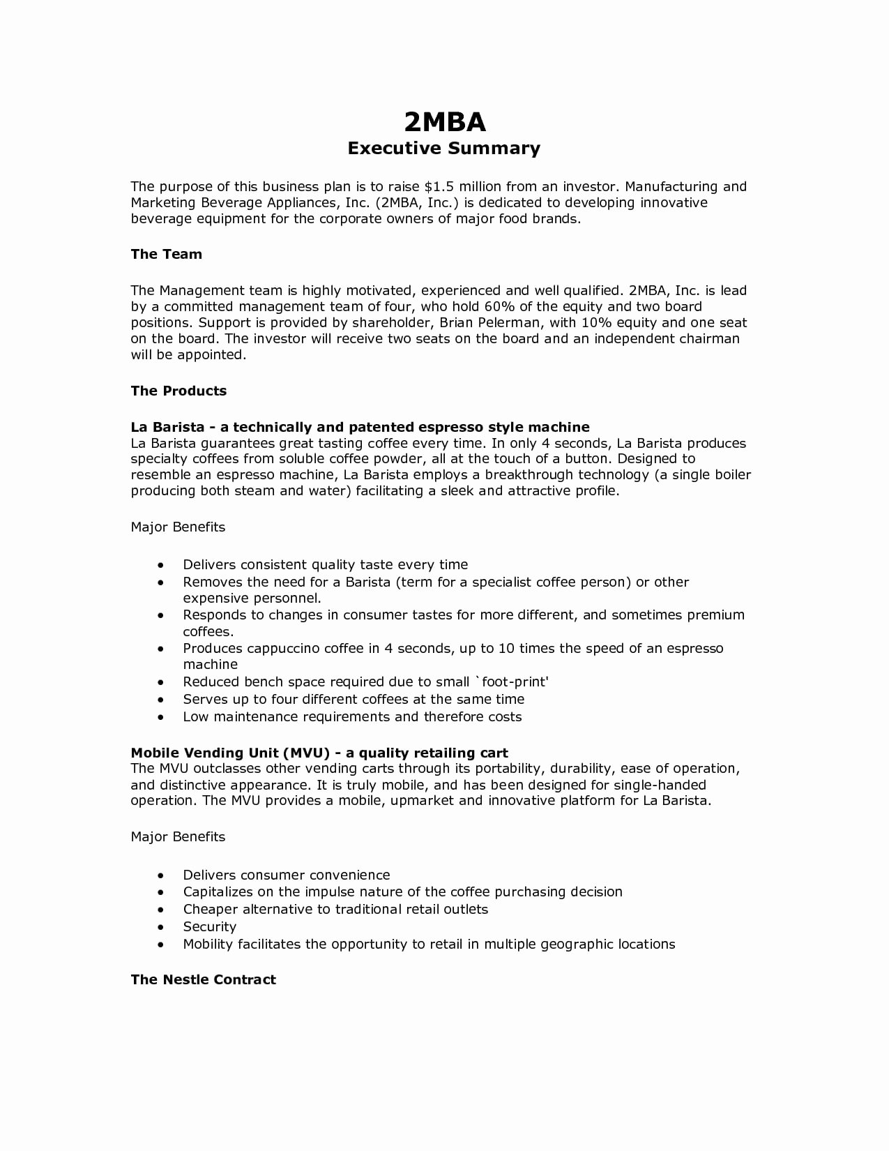 Business Summary Example Lovely 9 Executive Summary Marketing Plan Examples Pdf Word