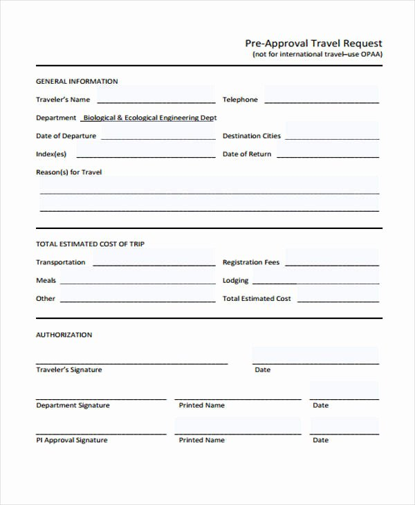 Business Travel Request form Lovely Travel Request form Template