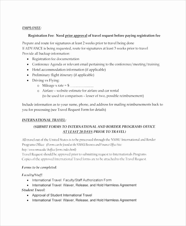 Business Travel Request form Template Elegant Sample Travel Request form 9 Free Documents Download In