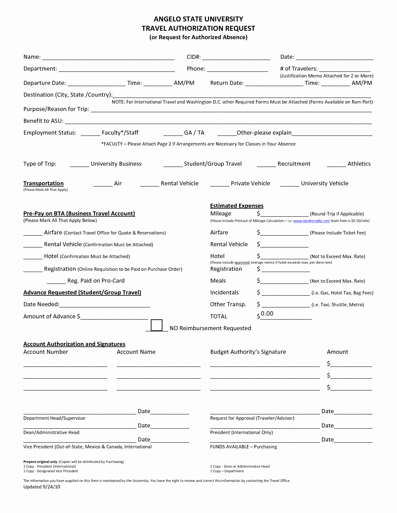 Business Travel Request form Template Lovely 30 Of Travel Authorization form Template
