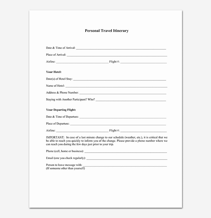 Business Trip Itinerary Template Fresh Business Travel Itinerary Template 23 Word Excel & Pdf