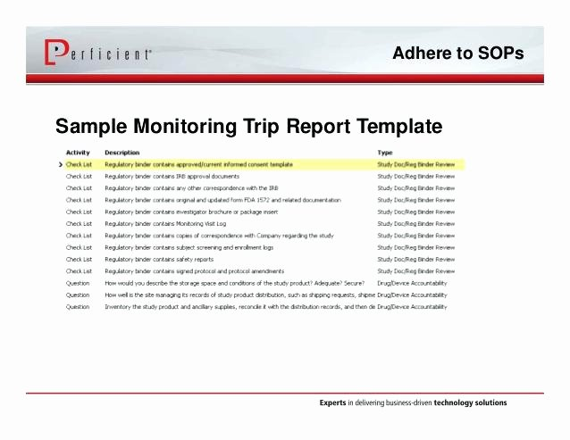 Business Trip Report Template Beautiful Supplier Site Visit Report Template