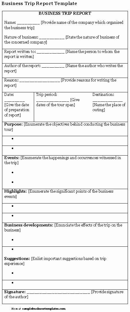 Business Trip Report Template Unique Best S Of Sample Business Report Template Business