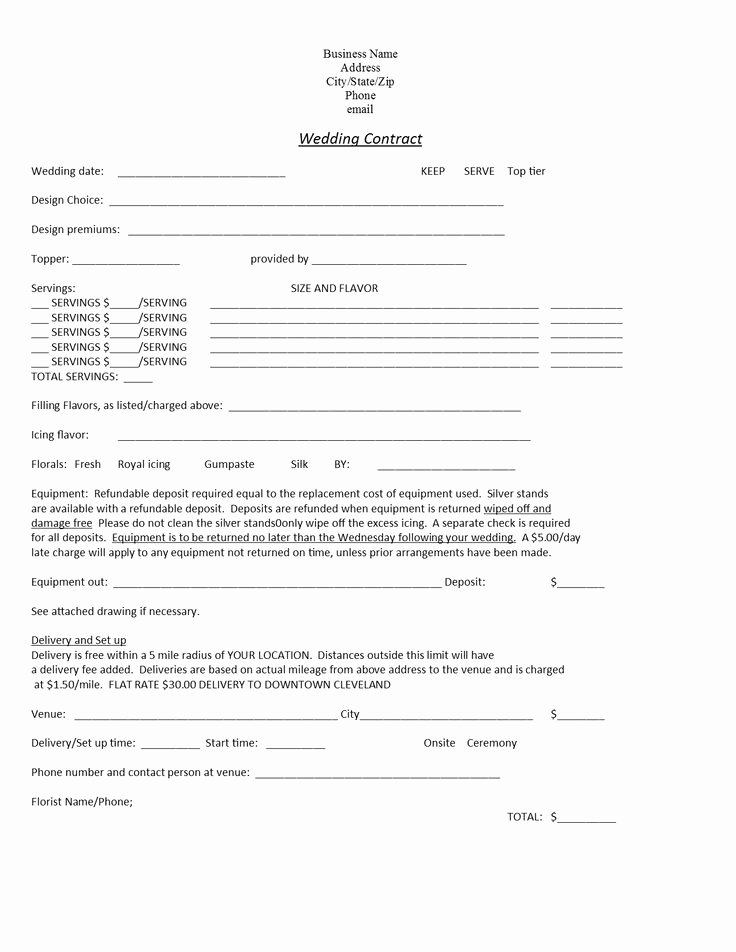 Cake Contract Template New Wedding Cakes Cakes and Wedding On Pinterest