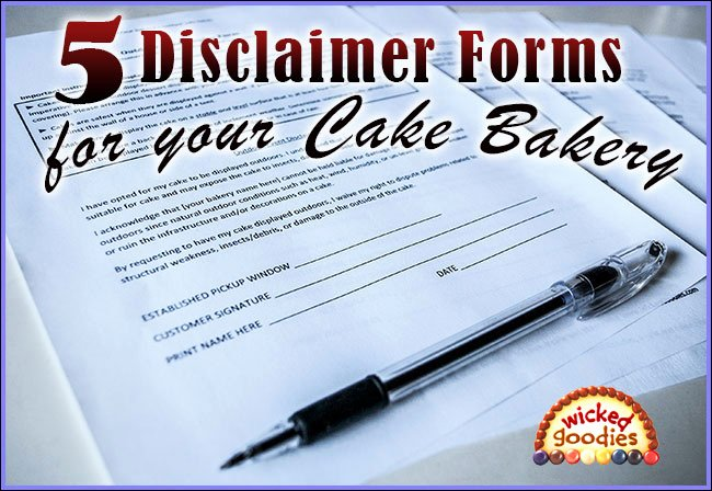 Cake Contract Template Unique Cake Bakery Disclaimer forms