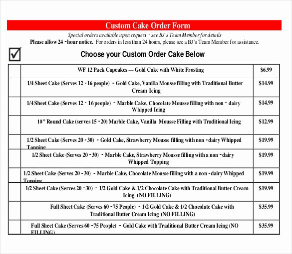 Cake order form Template Beautiful 21 Bakery order Templates Ai Ms Excel Ms Word