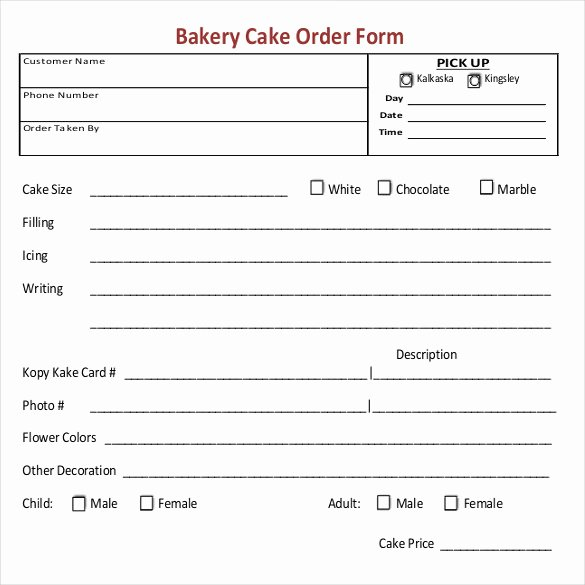 Cake order form Template New 16 Bakery order Templates Google Docs Pages