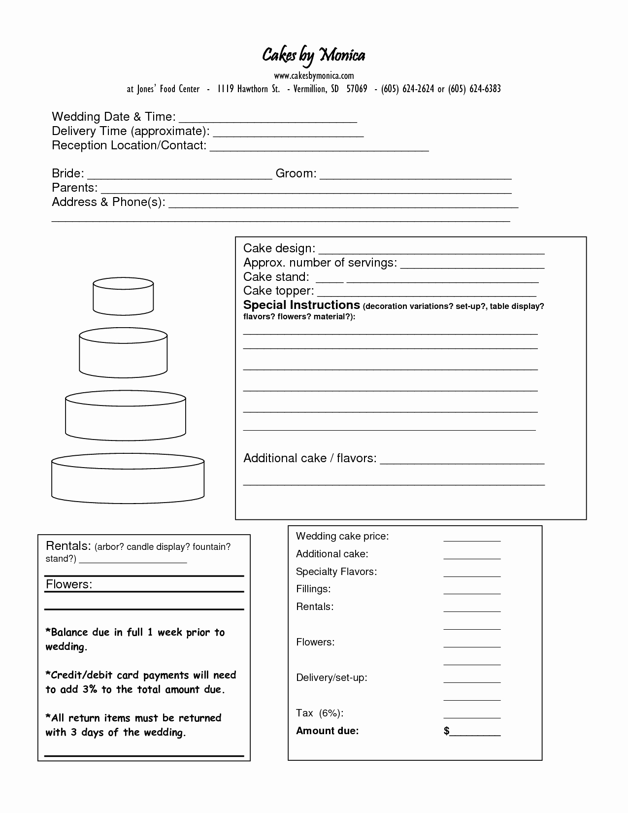 Cake order form Template Word Luxury Pin Blank Wedding Invitation Templates Start Designing