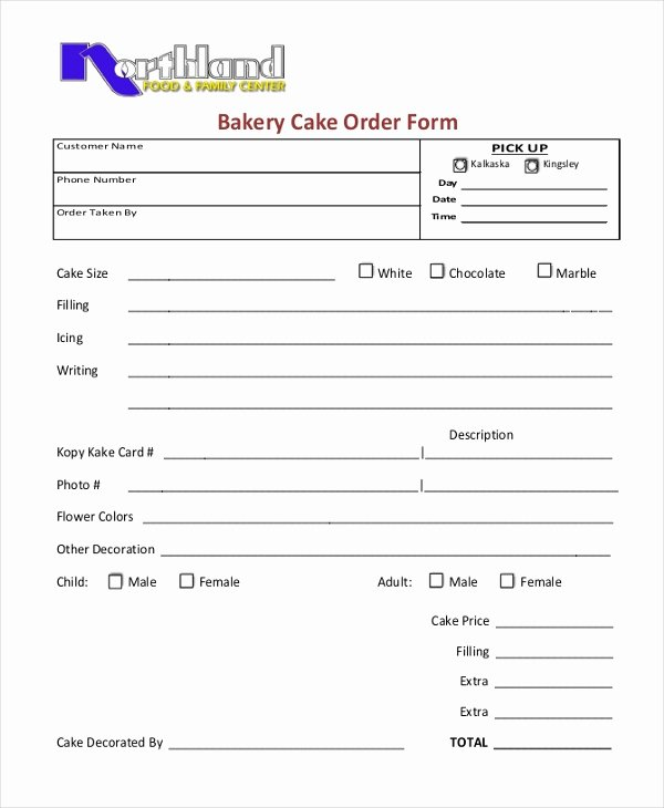 Cake order form Templates Beautiful Sample Cake order form 10 Free Documents In Word Pdf