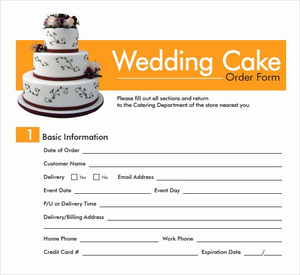 Cake order form Templates Best Of Sample Cake order form Template 16 Free Documents