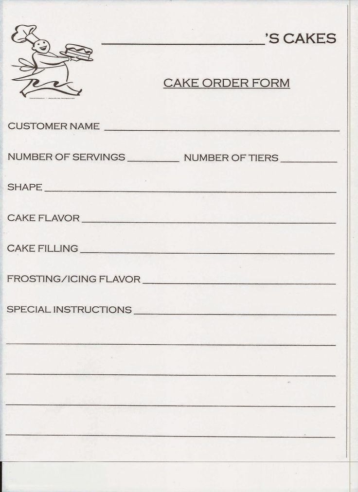 Cake order forms Templates Elegant Best 20 order Cake Ideas On Pinterest
