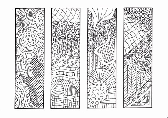 Calendar Bookmark Template Beautiful Zendoodle Printable Bookmarks Diy Zentangle Inspired Coloring