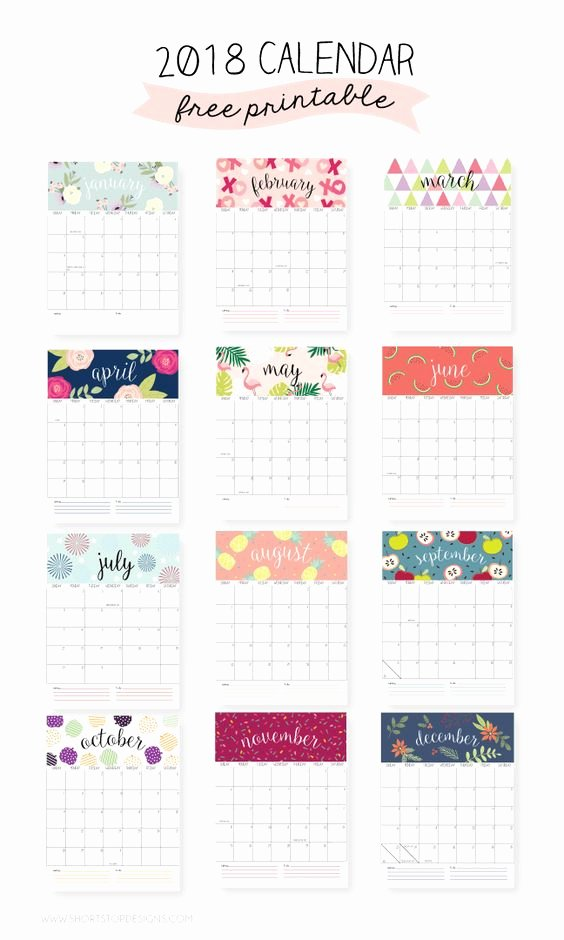 Calendar Bookmark Template Best Of 2018 Free Printable Calendars Lolly Jane