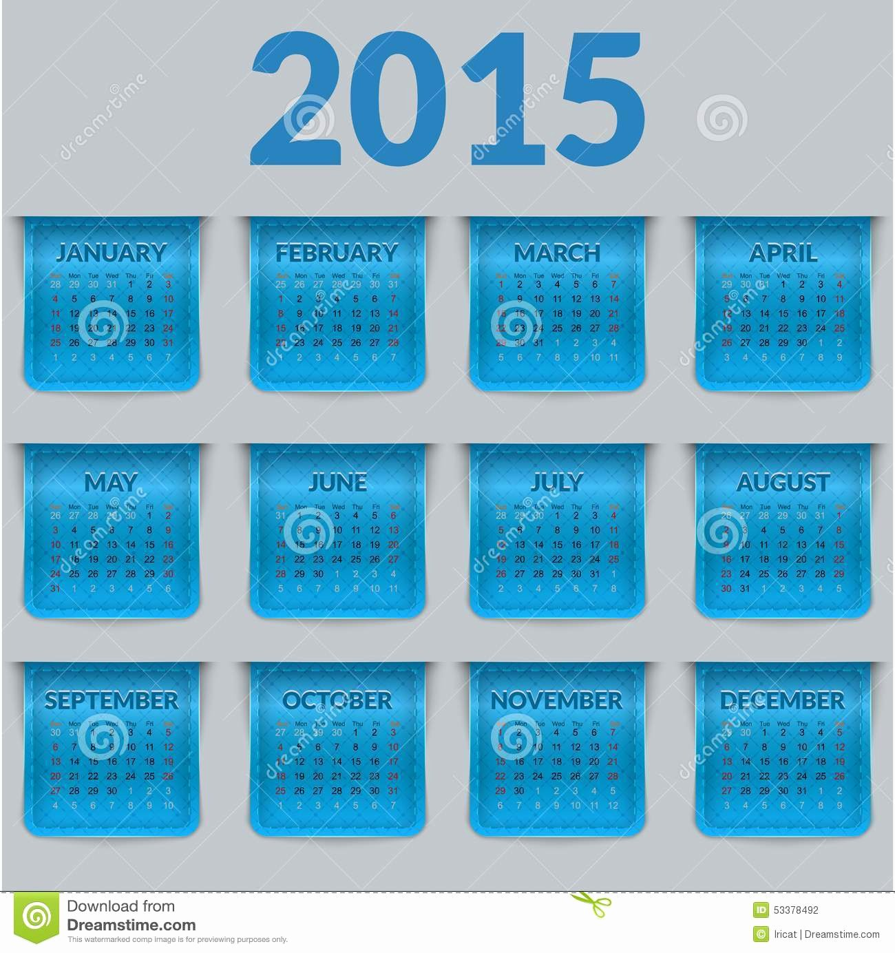 Calendar Bookmark Template Inspirational Calendar for 2015 In the form A Glossy Textured Labels