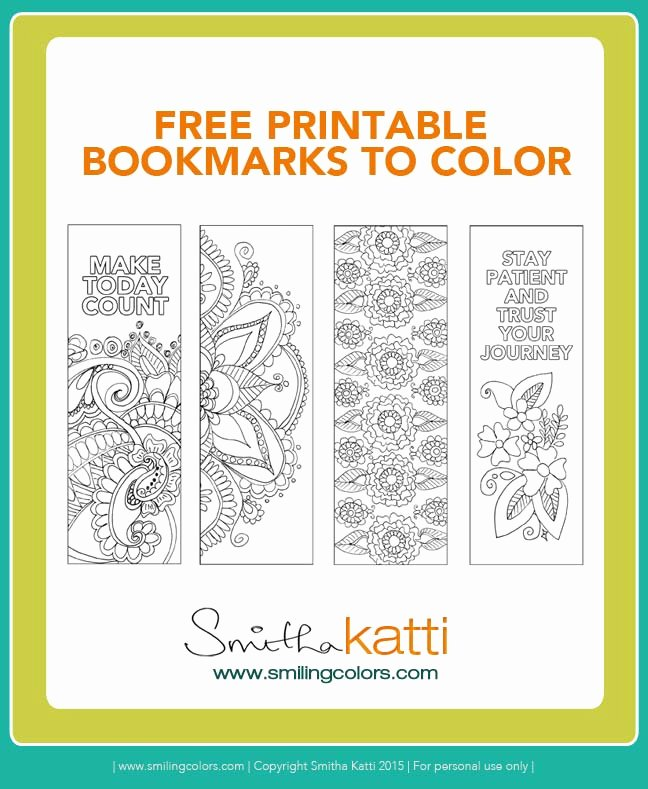 Calendar Bookmark Template Lovely Coloring Calendar 2016 and Free Printable Bookmarks to