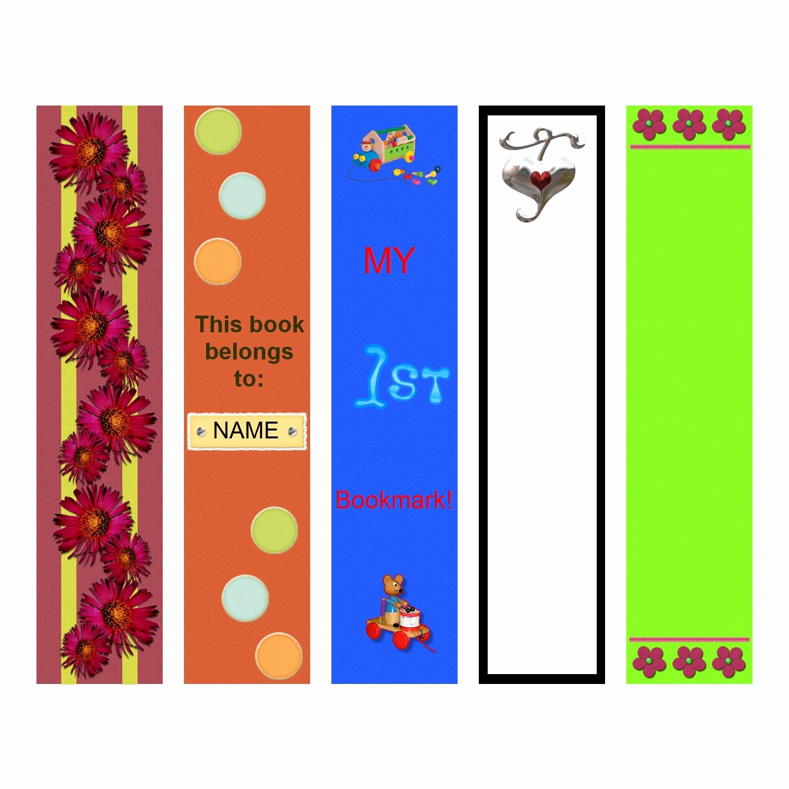 Calendar Bookmark Template Luxury Bookmark Template to Print