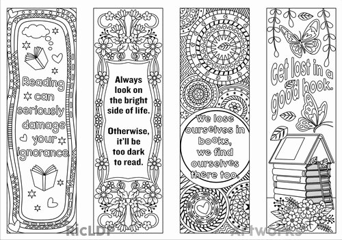 Calendar Bookmark Template Luxury Printable Coloring Bookmark Templates with Four Designs