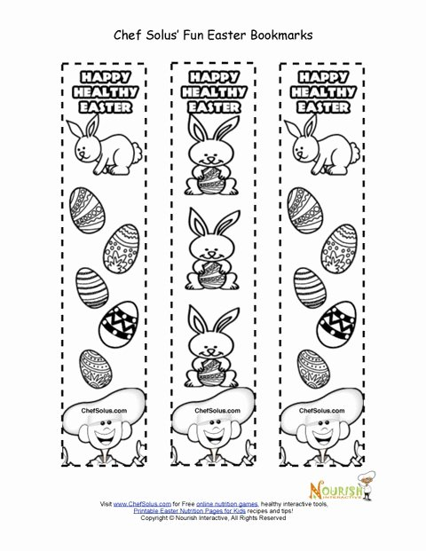 Calendar Bookmark Template New Holiday 5 Easter Bookmark for Kids Coloring Page