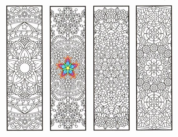 Calendar Bookmark Template Unique Coloring Bookmarks Advanced Flower Mandalas Page 1