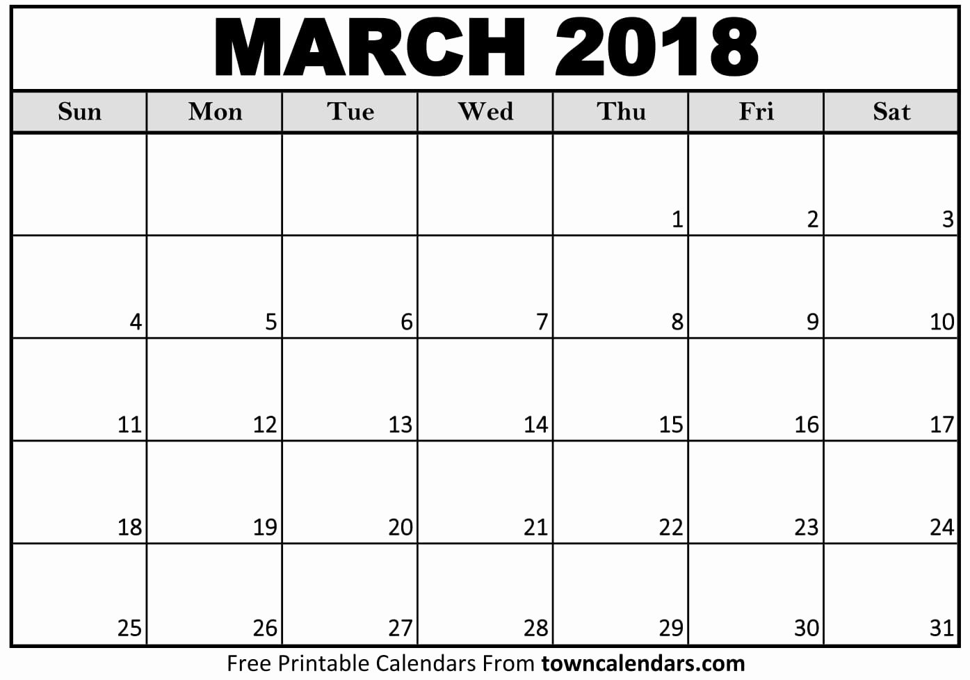 Calendar Template for Pages Mac Luxury Printable March 2018 Calendar towncalendars