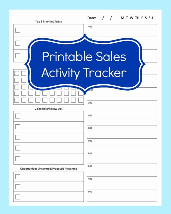 Call Back List Template Best Of Sales Activity Tracker Daily Planner Cold Call Tracker