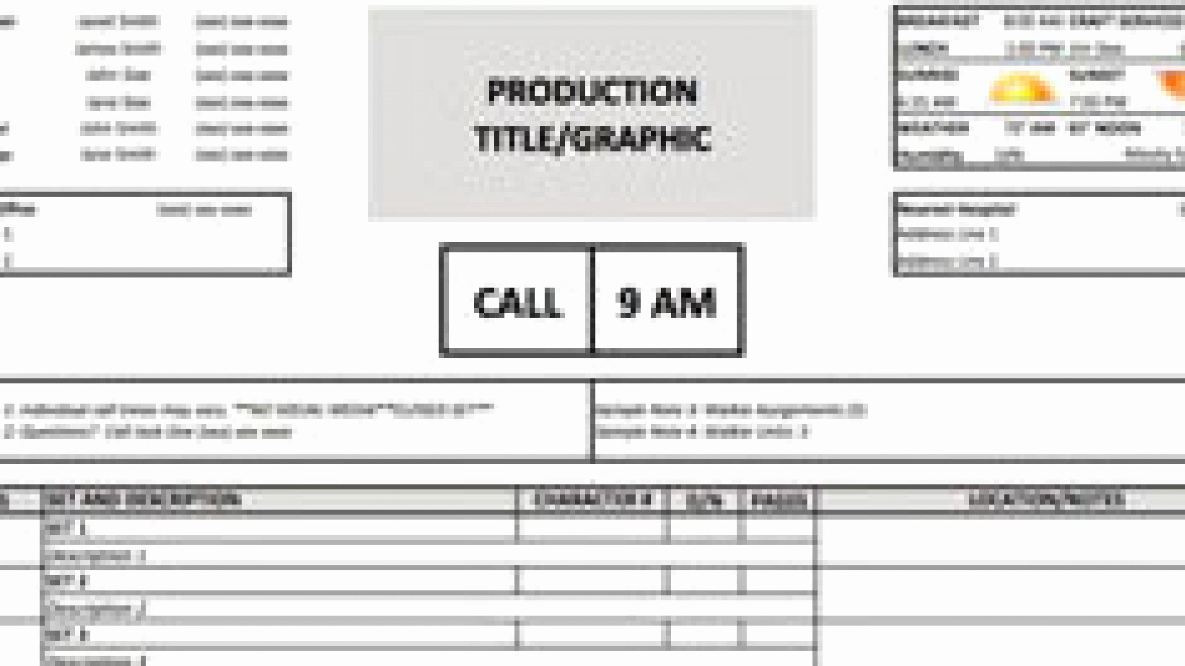 Call Sheet Samples Elegant Download A Free Call Sheet Template to Get Your Crew