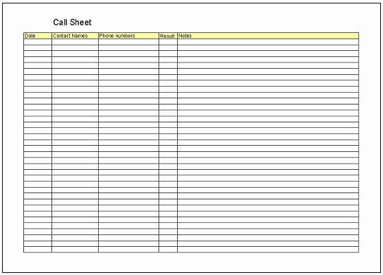 Call Sheet Samples Fresh Call Sheet Template