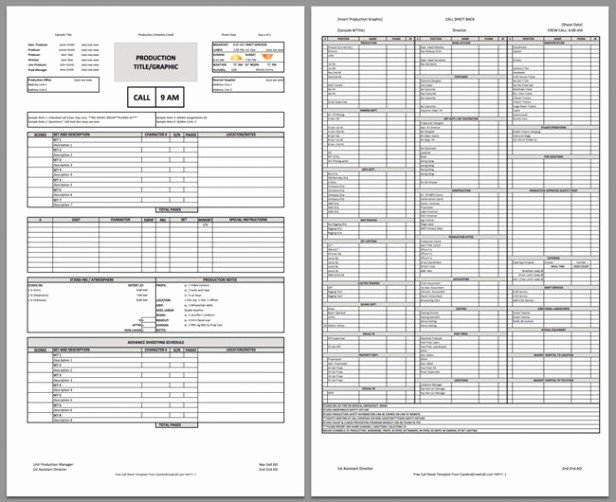 Call Sheet Samples Fresh Free Download Call Sheet Template the Ly E You Ll