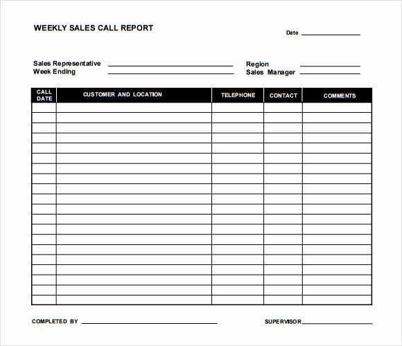 Call Sheet Template Excel Luxury Sample Sales Call Report 13 Documents In Pdf Apple