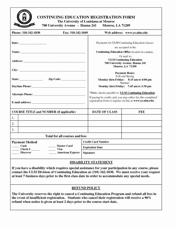 Camp Registration form Template Word Elegant New Customer Registration form Template