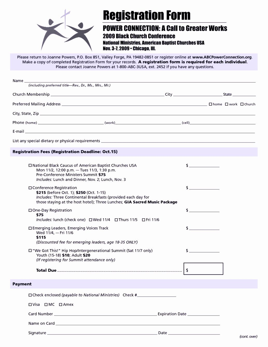 Camp Registration form Template Word Fresh Church Conference Registration form Template Templates