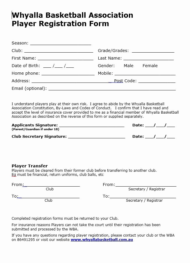 Camp Registration form Template Word Inspirational Basketball Uniform Design Template Templates Resume