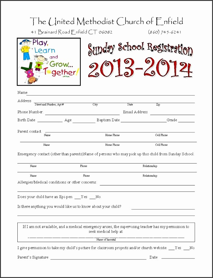 Camp Registration form Template Word Luxury 5 Free Summer Camp Registration form Template